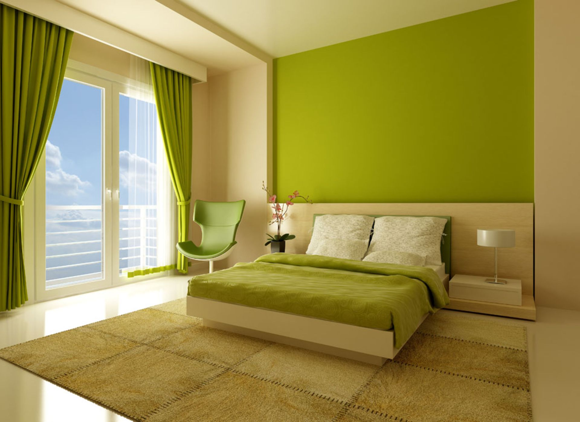 Modern Bedroom Green Design Inspiration 22919 Decorating Ideas | For ...