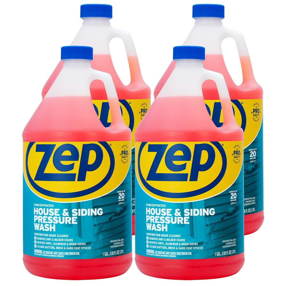 Zep 1 Gallon House And Siding Pressure Wash Concentrate Case Of 4 Pressure Washing Cleaning Vinyl Siding Siding