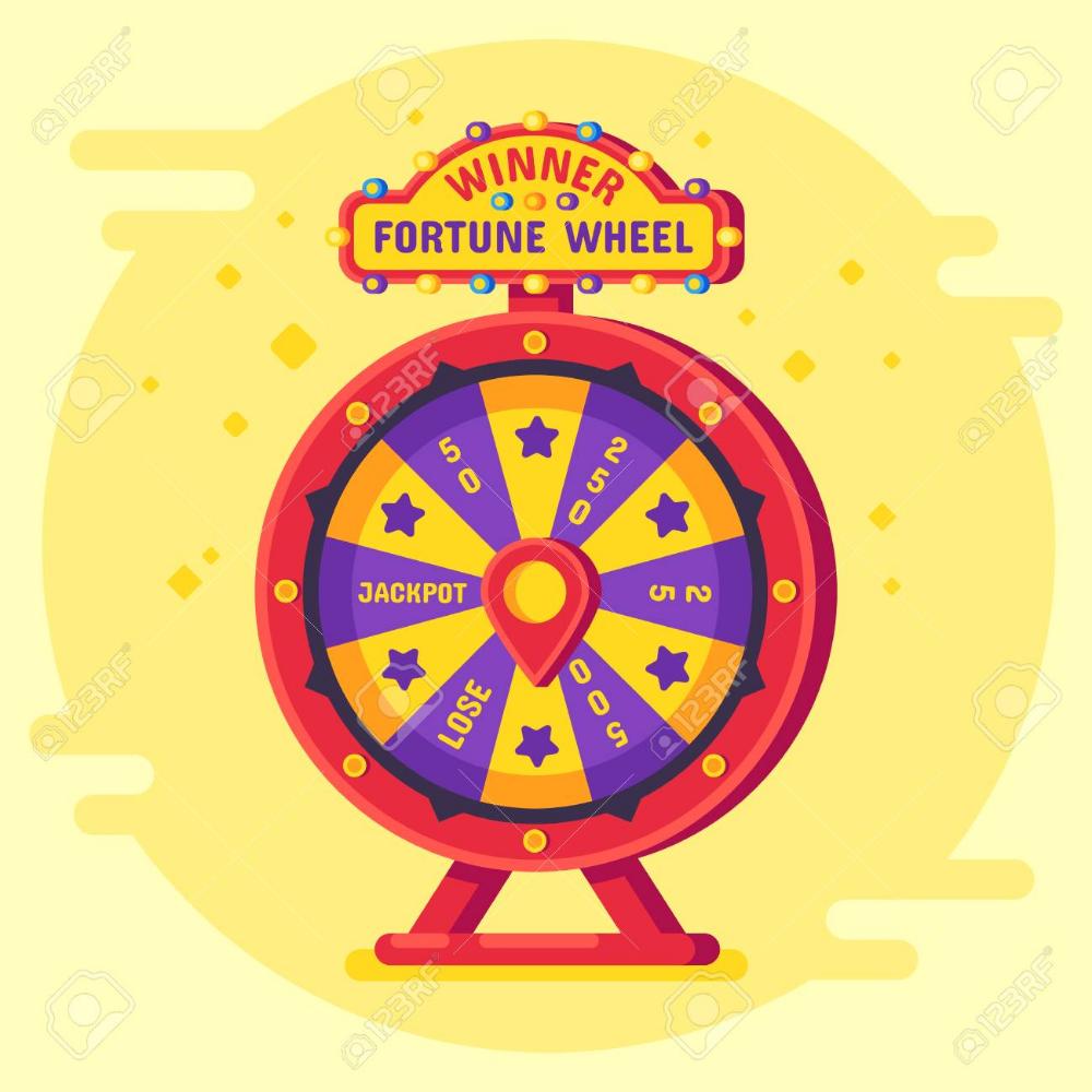 Fortune Wheel Winner Lucky Chance Spin Wheels Game Modern Turning Wheel Of Fortune Spinning Wheel Game Lottery Winner