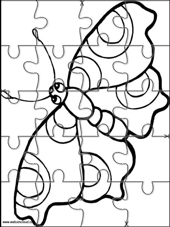 Printable Jigsaw Puzzles To Cut Out For Kids Animals 46 Coloring Pages