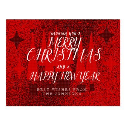christmas greeting postcards merry christmas postcards postal family xmas card holidays diy personalize