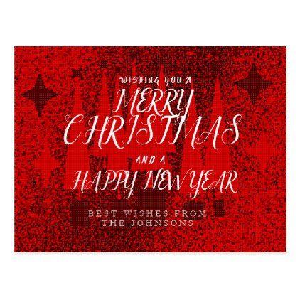 christmas greeting postcards merry christmas postcards postal family xmas card holidays diy personalize