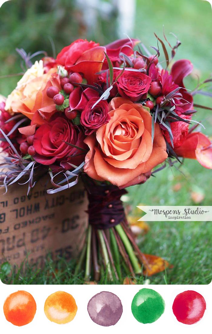 Alluring Autumn Color Palette No. 95 Wedding themes