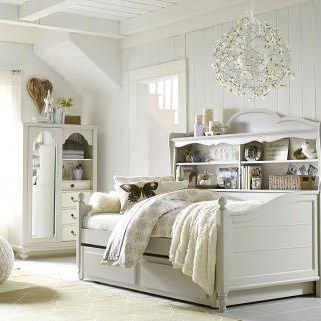 Legacy Classic Furniture 3832-5602K Wendy Bellissimo Twin Complete Bookcase Daybed in Seashell White