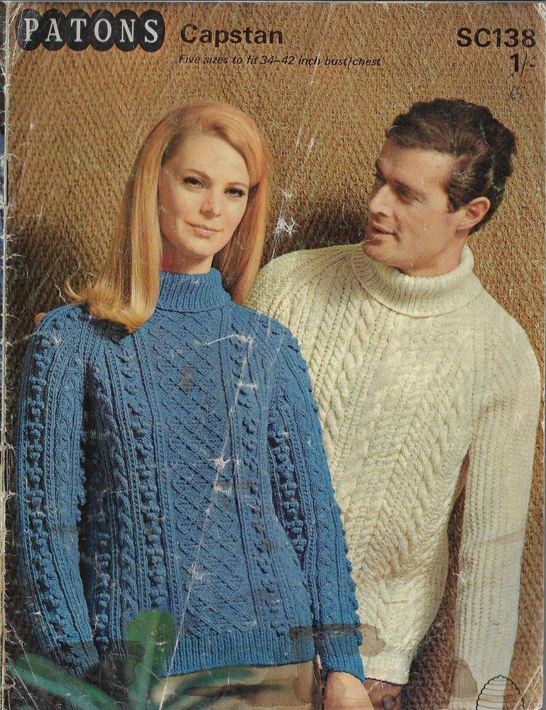 "Ladies Mens Boys girls Cable Sweater Jumper KNITTING PATTERN Aran 26-42/"" adult"