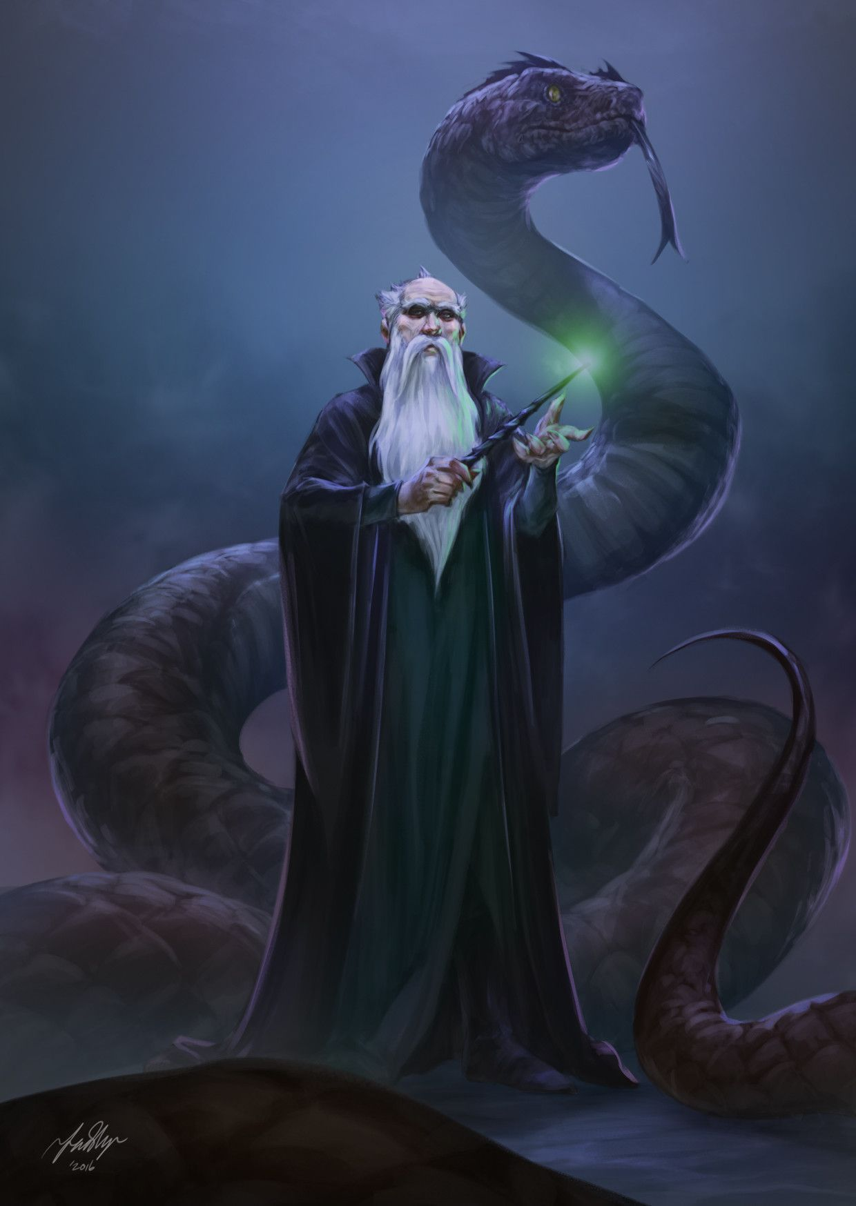 ArtStation - Salazar Slytherin, Fadly Romdhani