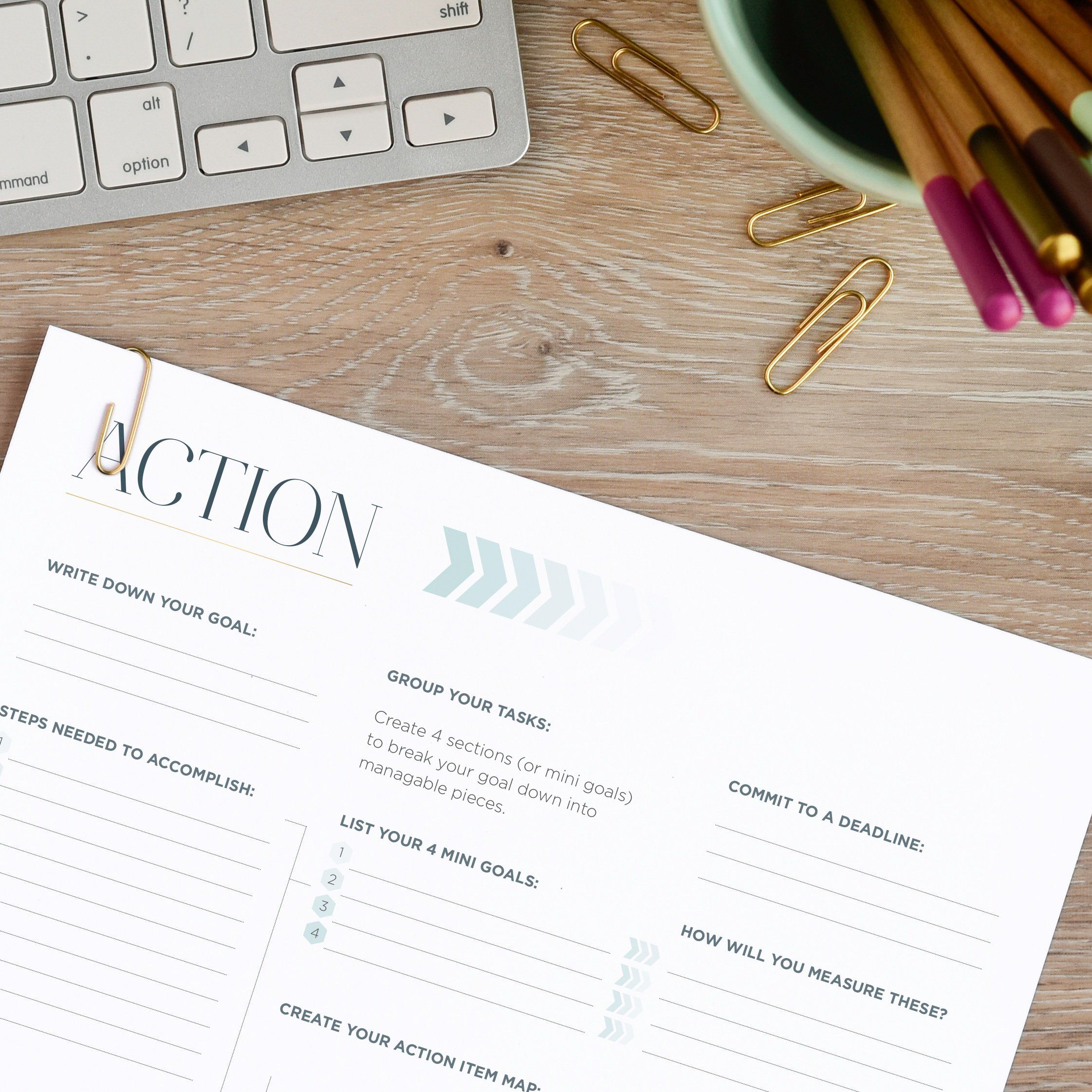 Make Your Own Action Plan For Your Goal Setting Use This
