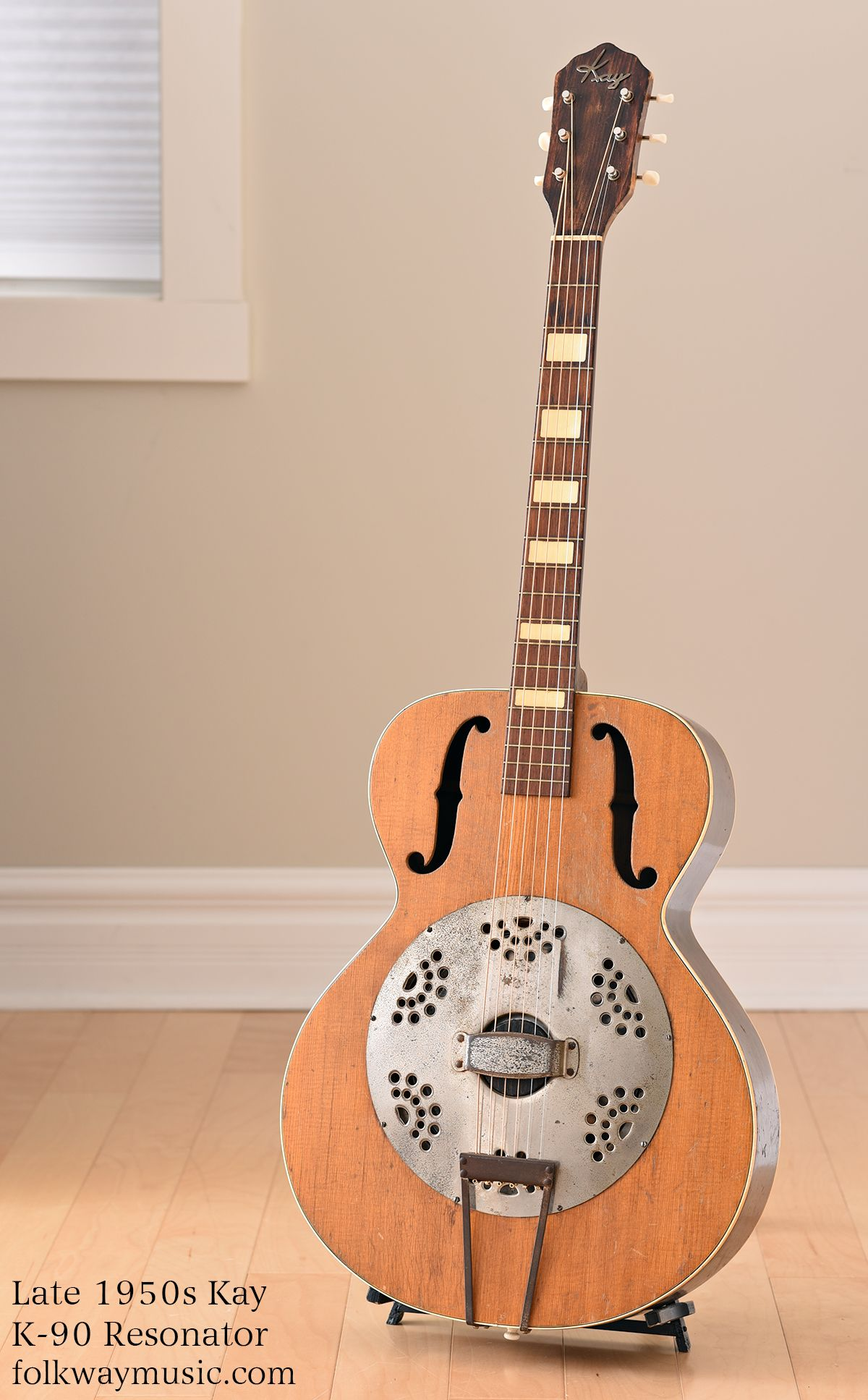 Late 50s Kay K 90 Resonator Guitar Vintage Guitars And New Guitars Ontario Canada Folkway Music Vintage And New Guit Resonator Guitar Guitar Steel Guitar