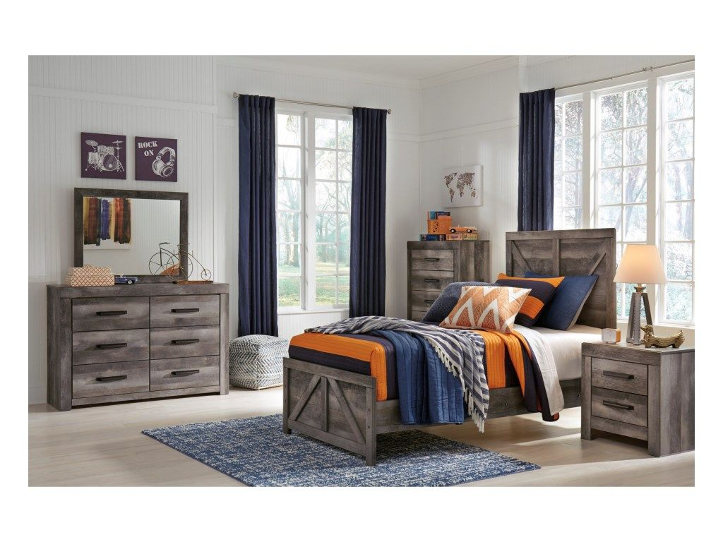 862 Signature Design by Ashley Wynnlow Twin Bedroom Group