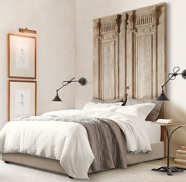 Unique Headboard Ideas Part - 29: Carved Door Headboard - Love This Idea - Check Out Your Habitat For  Humanity Re-Store For Old Doors