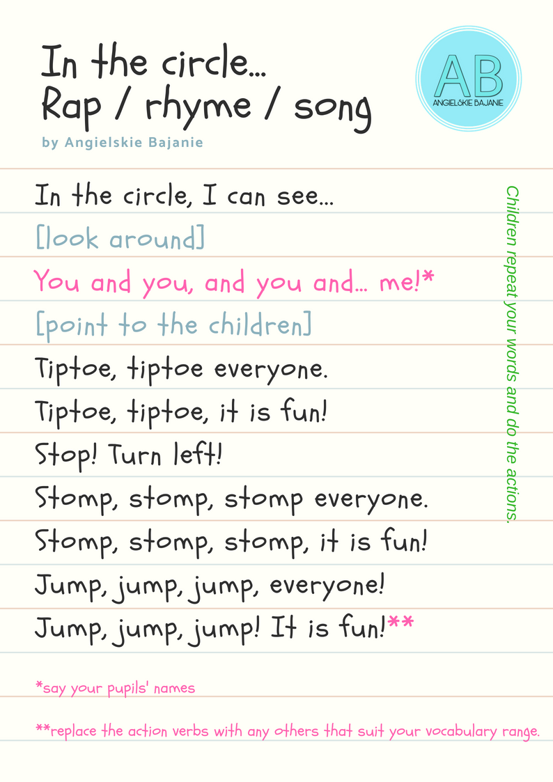 Circle Time A Rhyme A Rap Or A Song 3in1 Circle Time