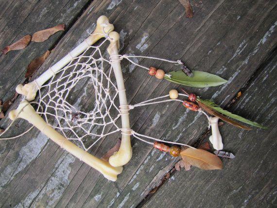 Fox Femur Bone Dream Catcher by moonlitgypsy on Etsy,