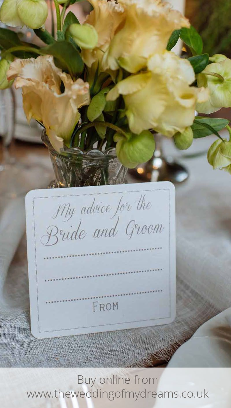 Advice For The Bride And Groom Coasters Elegant Set Of 10 Advice