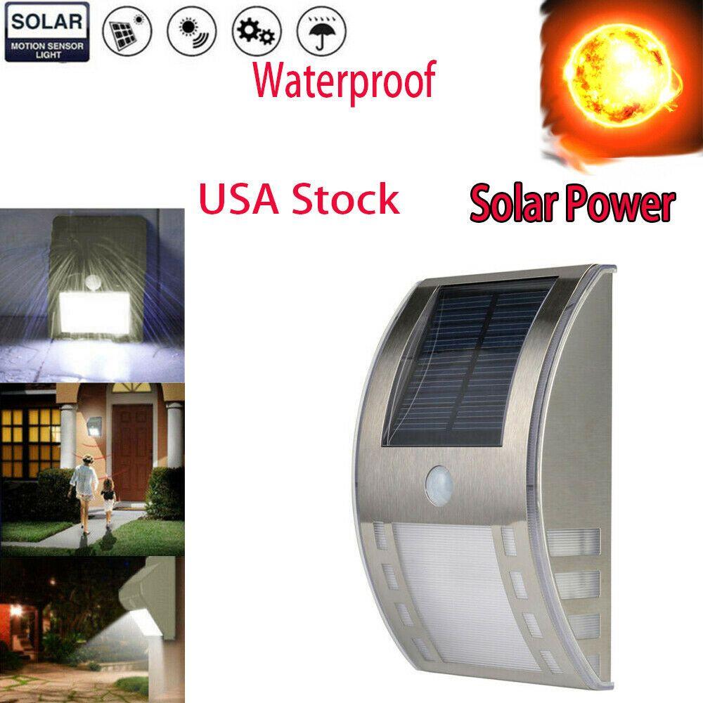 8 Led Solar Power Pir Motion Sensor Wall Light Outdoor Garden Lamp Waterproof Us Outdoor Solar Lamps Solar Powered Lights Solar Motion Lights