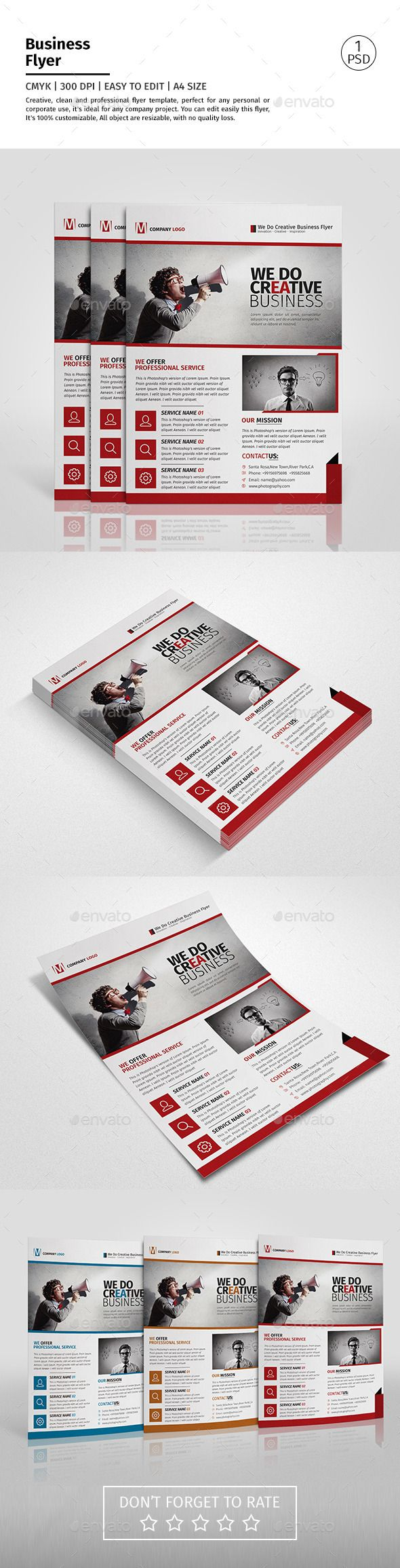 A4 Corporate Business Flyer Template Vol 10 Business Flyer