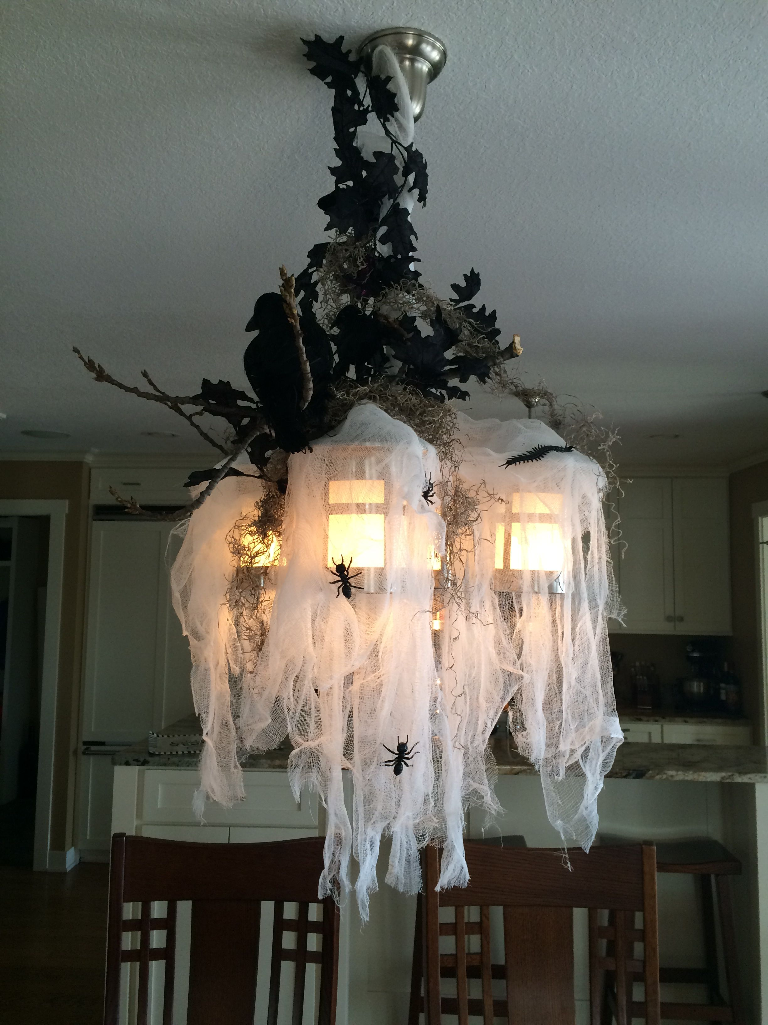 Spanish moss for crafts - Cheesecloth Spanish Moss Dollar Store Ants Last Years Clearance Birds From Michaels And
