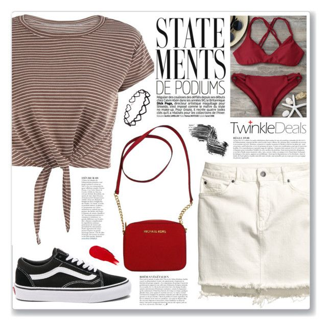 """""""casual (twinkledeals 139)"""" by myduza-and-koteczka ❤ liked on Polyvore featuring Anja, Vans, Michael Kors, Illamasqua, Rodin and vintage"""