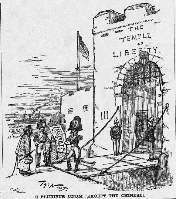Harper's Weekly cartoon, April 1, 1882, E Pluribus Unum