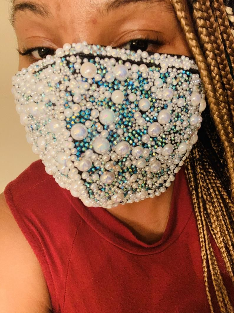 Bling Mask Etsy In 2020 Fashion Face Mask Diy Face Mask Silver Mask