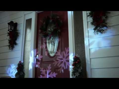 Outdoor LED Snowflake Christmas Light Projector with Remote Control