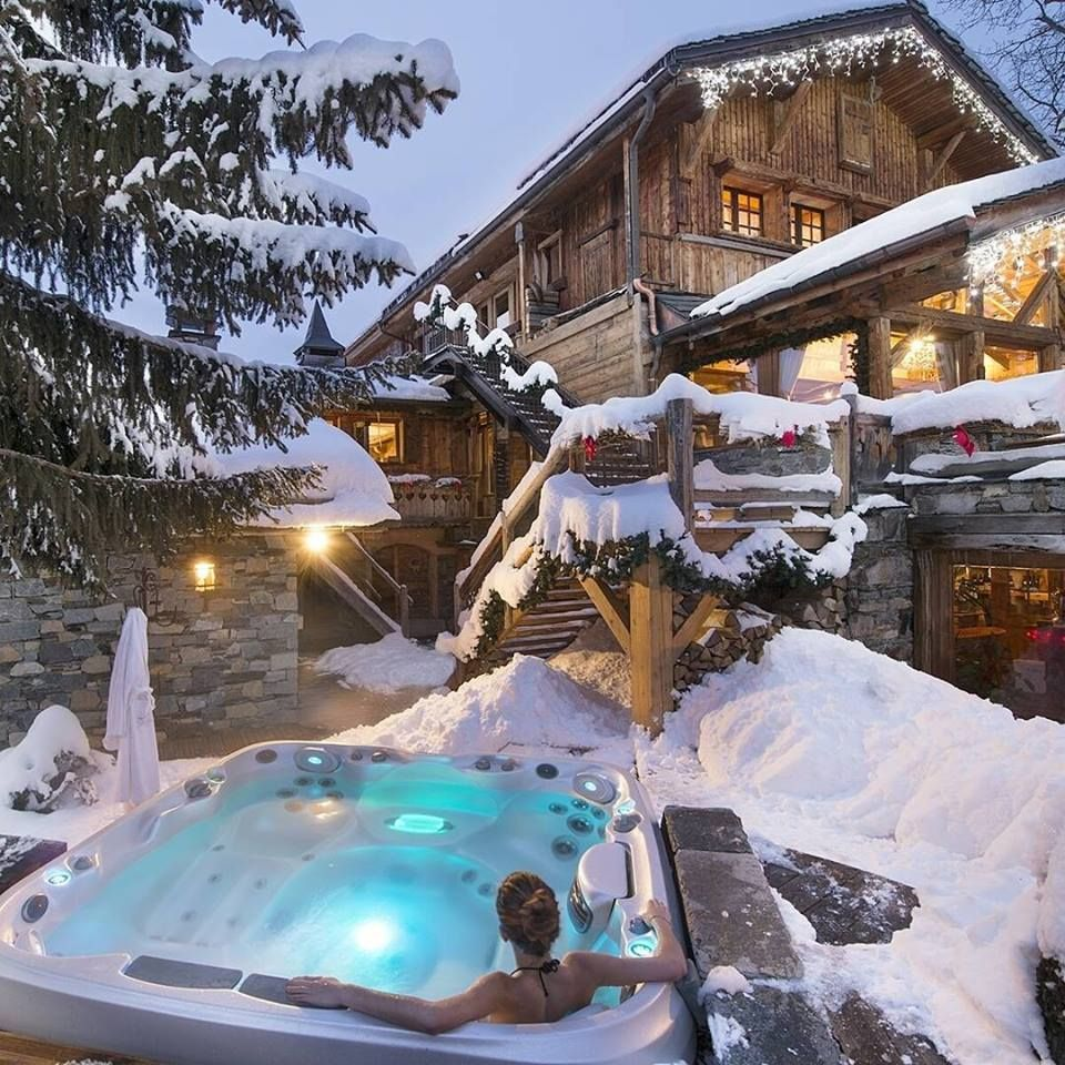 After A Day Of Skiing In The Savoie Region Luxury Winter Holiday Awesome Wintersport Jacuzzi Hottub Follow Us On Facebook H Luxury Life Jacuzzi Pool