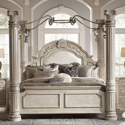 Michael Amini Monte Carlo II Four Poster Bed | Wayfair