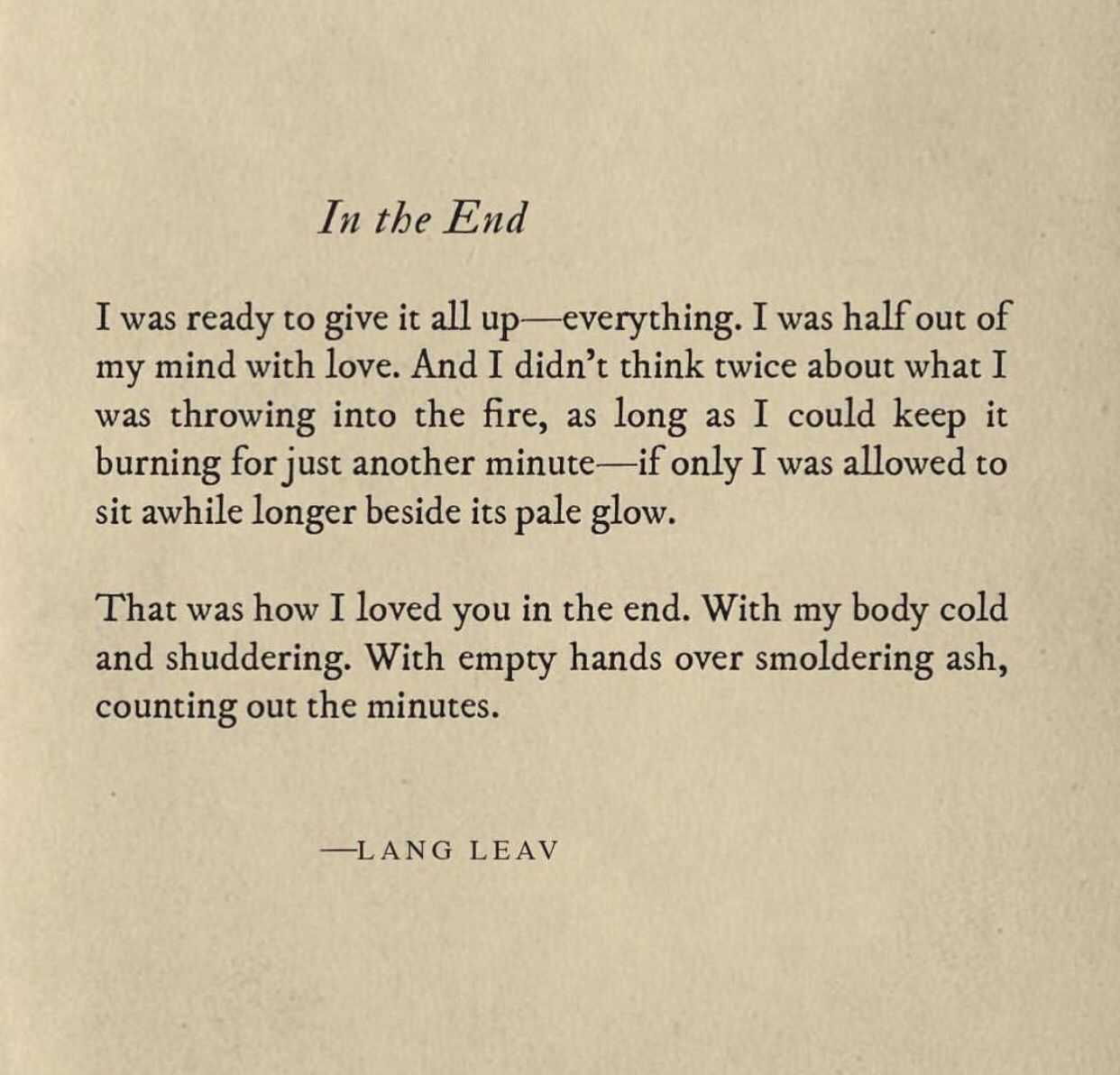 Lang Leav  Poetry    Lang Leav Hard Truth And Deep