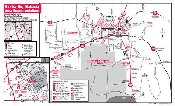 Map of Huntsville Al   Map And Directions Of Huntsville Al ...