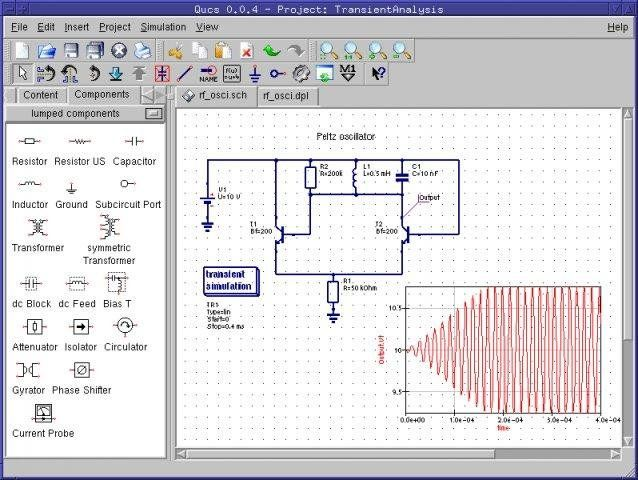 Free Electronic Circuit Design And Simulation Software - Data SET •