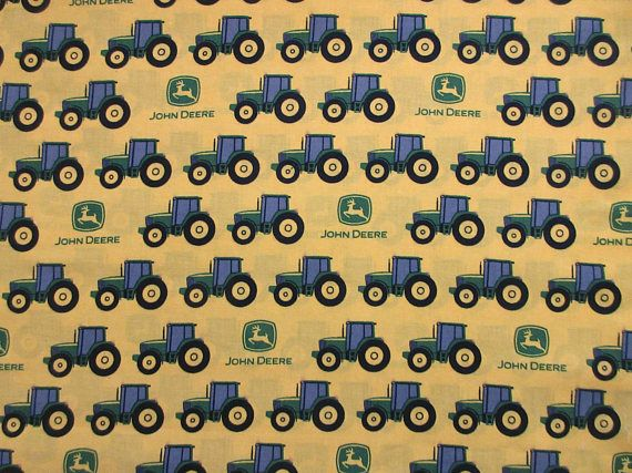 John Deere Fabric Tractor Stripe 22259 Spring Creative Products