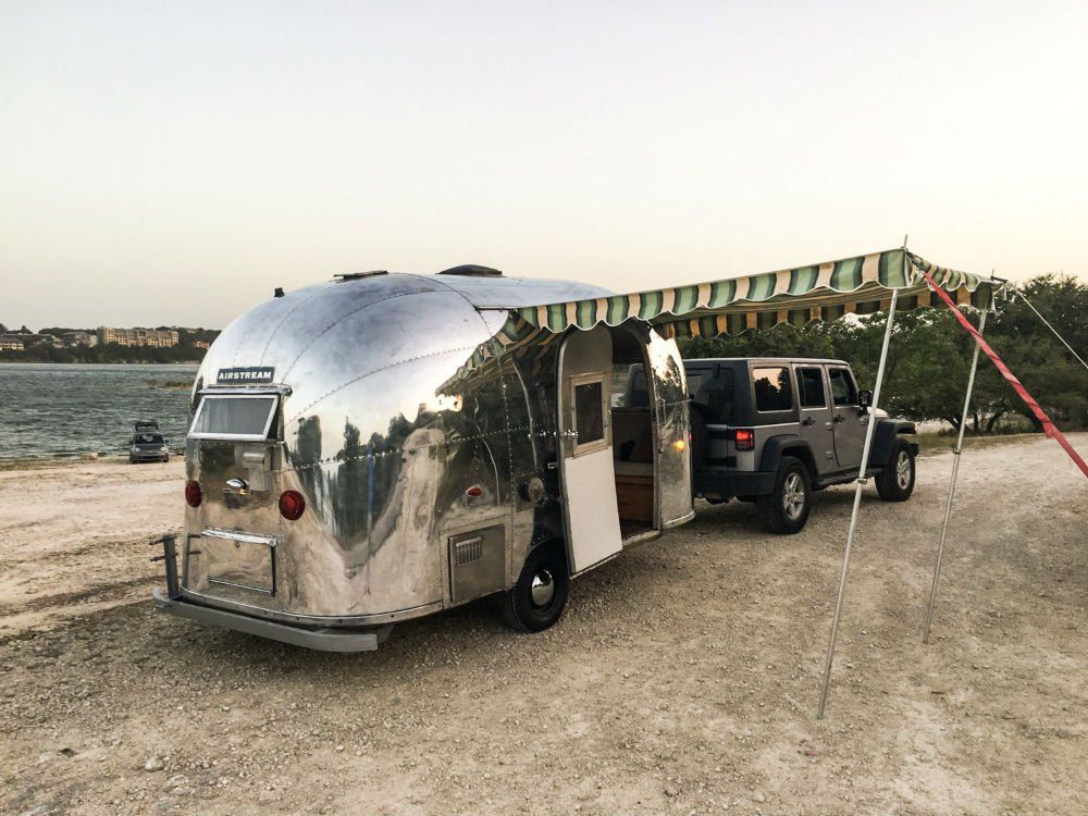 jeep wrangler pulling a vintage airstream talk about a summer