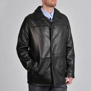 Excelled Men's Black Lamb Leather Car Coat | Peg | Pinterest ...