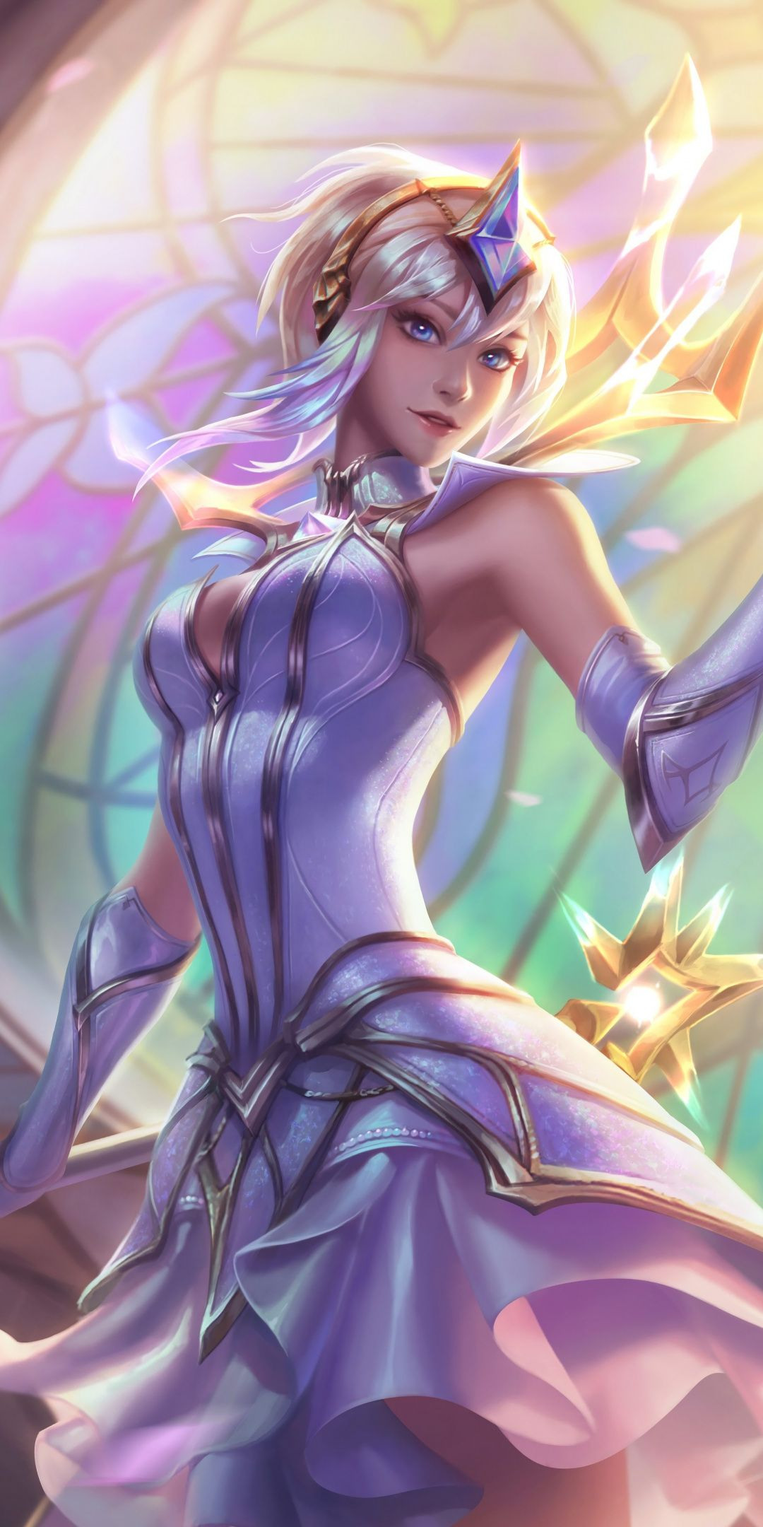 Elementalist Lux Splash Art League Of Legends 1080x2160
