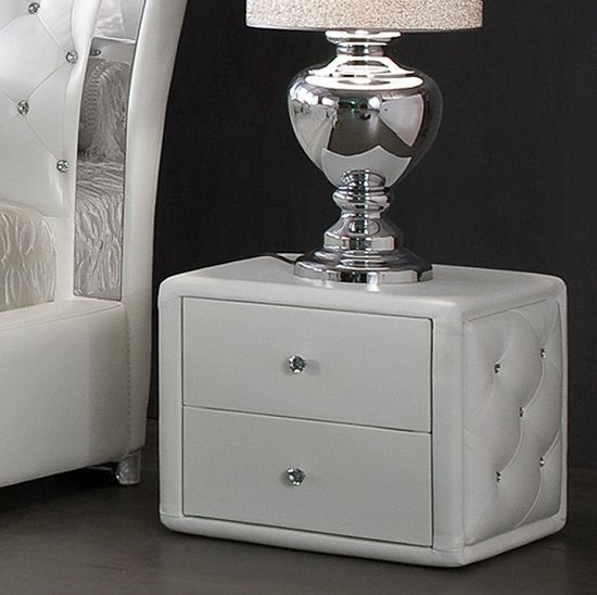 verona 2 drawer white faux leather bedside cabinet bedside cabinets in a wide range of styles from furniture in fashion