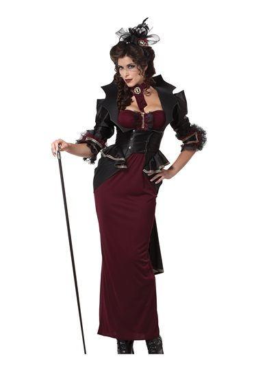 steampunk lady of the manor halloween disfraces y makeup vampire halloween costume ideas