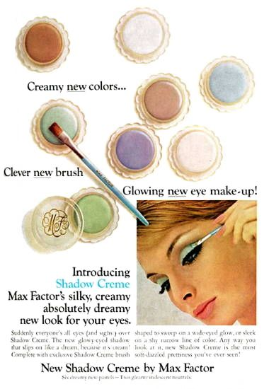 1966 Max Factor Shadow Creme With Images Vintage Makeup Ads