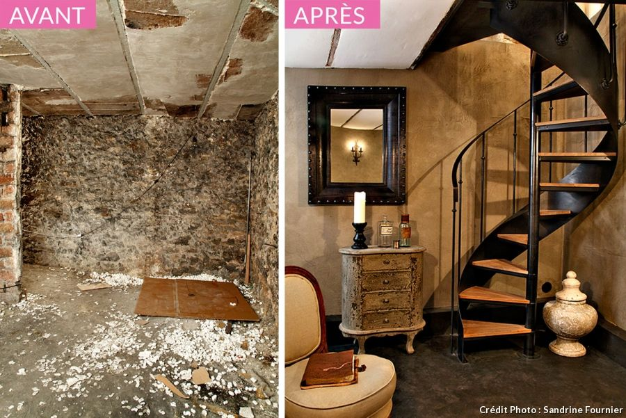comment transformer sa cave en chambre cave mezzanine and construction. Black Bedroom Furniture Sets. Home Design Ideas
