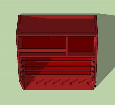DIY Furniture : DIY Craft Organizer Or Wrapping Paper Station