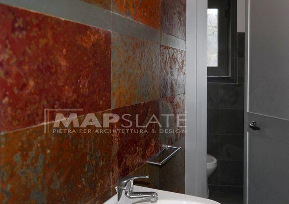 Rivestimenti Bagno In Pietra Ardesia : Ardesia grigia pavimento piastrella rivestimento bagno cucina