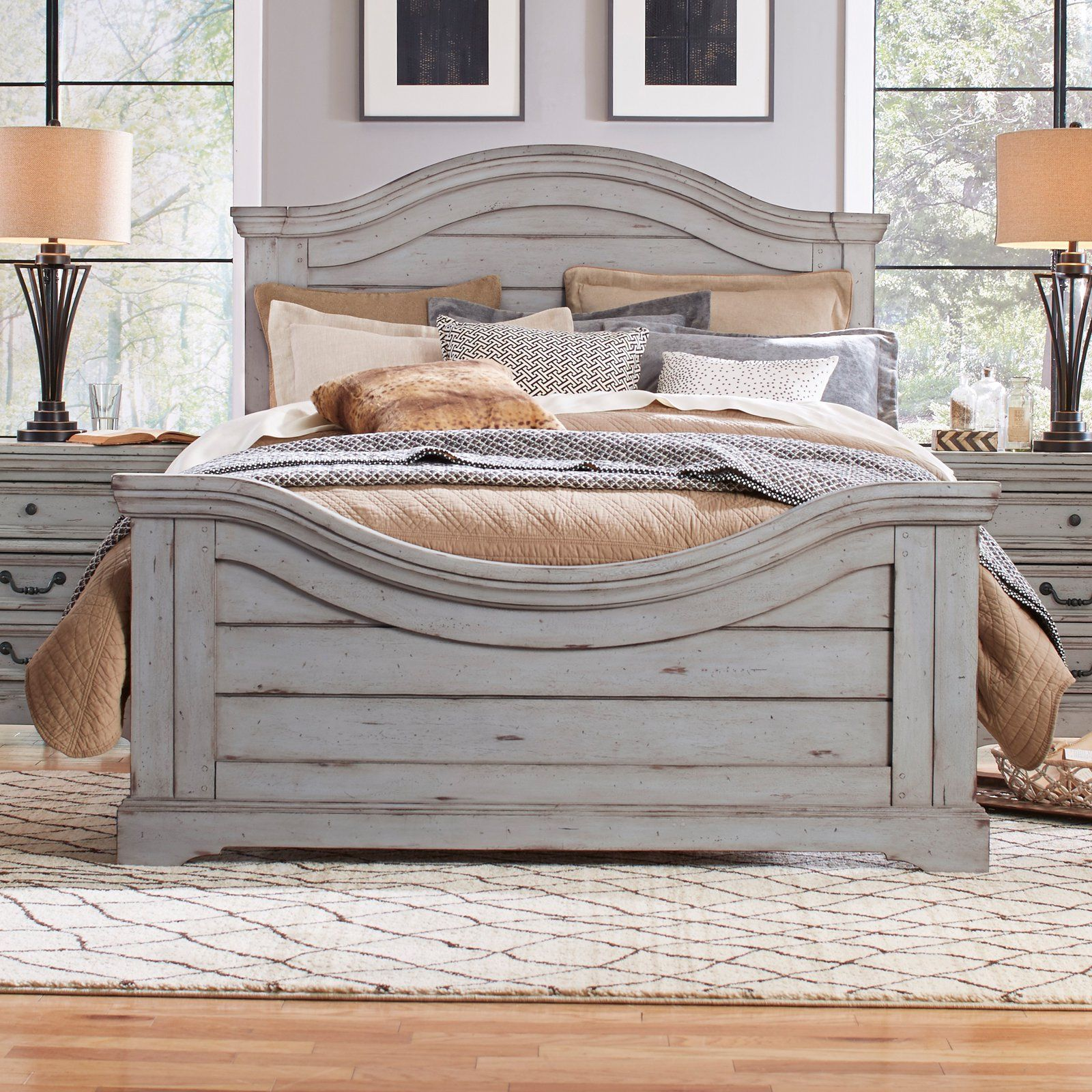 american woodcrafters stonebrook panel bed from hayneedle com