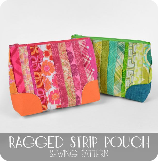 Free tutorial - a fun makeup or pencil pouch made up of tiny ...