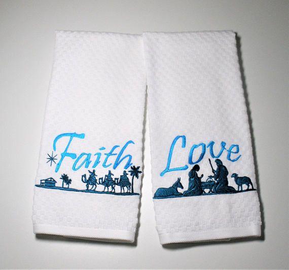 christmas kitchen towel christmas decor religious gift