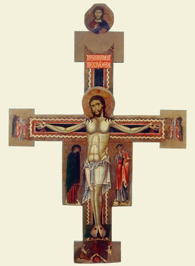 Margaritone d'Arezzo - Croce dipinta da Santa Maria delle Pieve - Arezzo, Museo Nazionale d'arte medievale e moderna