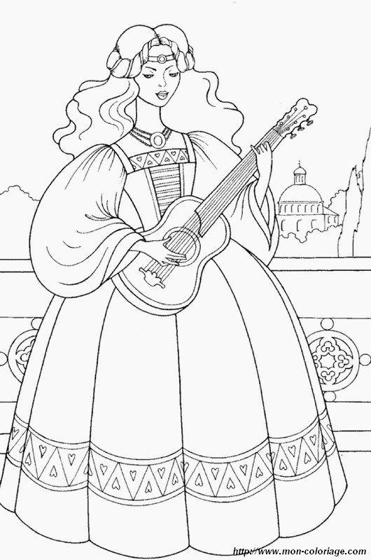 ausmalbild sie spielt gitarre com imagens  artes
