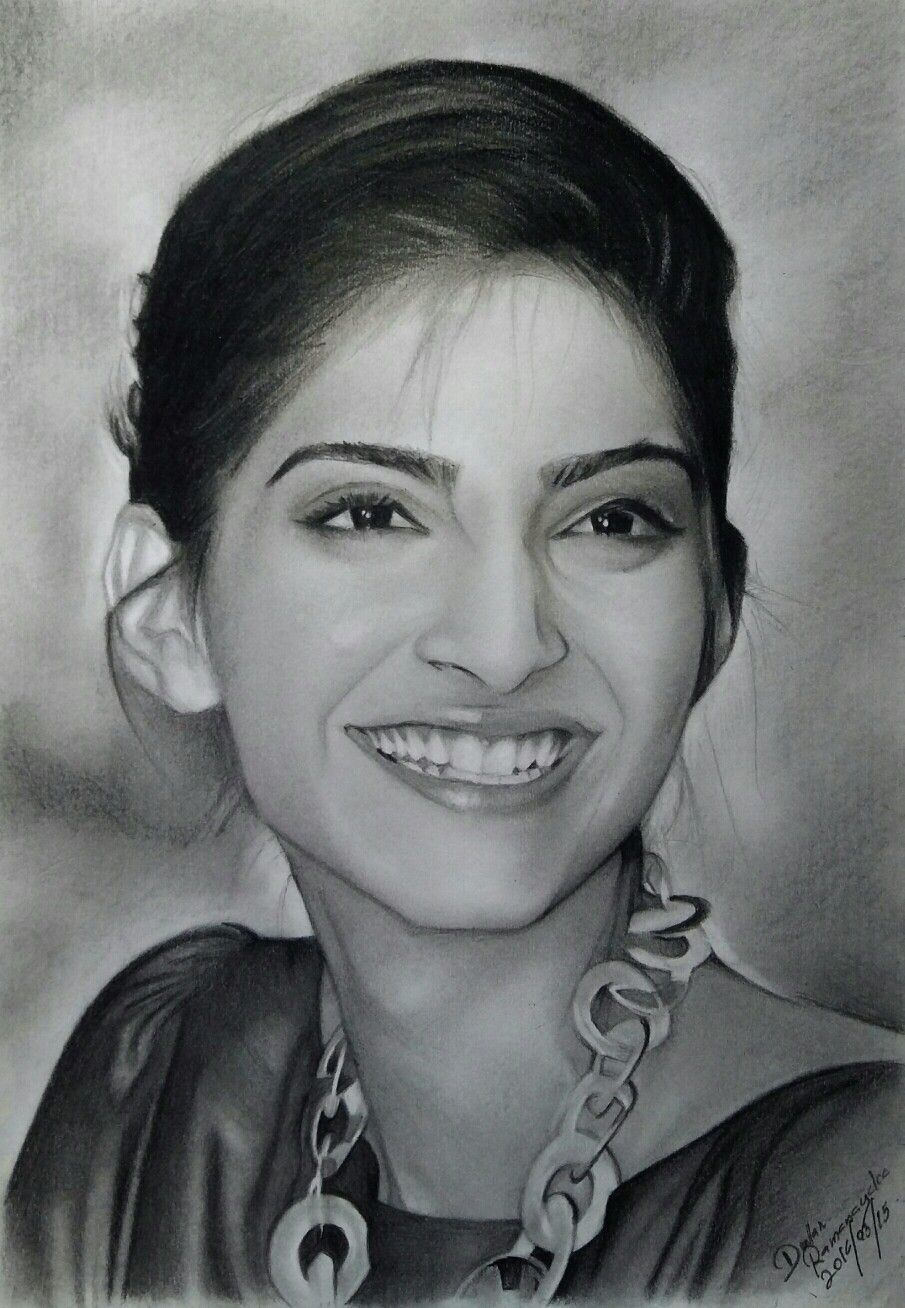 Sonam kapoor human face drawing pencil art pencil drawings sonam kapoor female