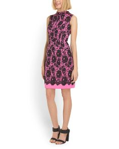 image of Gianna Lace Print Dress