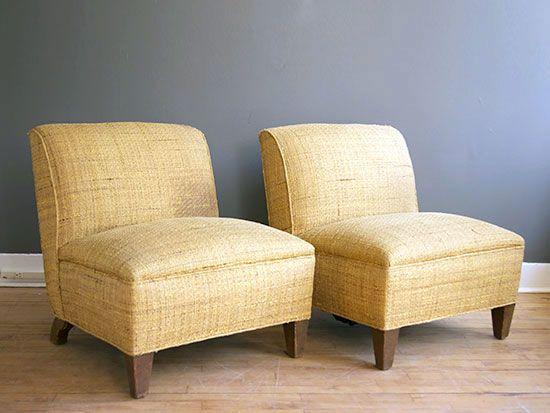 Nice Family Room    Resideinc.com Vintage Modern Slipper Chairs