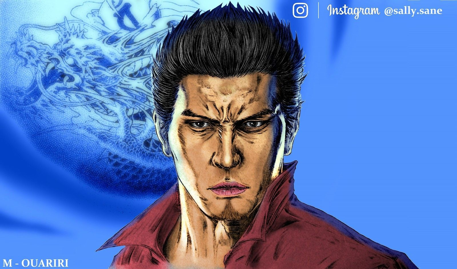 Legendary Blue Dragon Kiryu Kazuma Of Yakuza By Saladin Sane