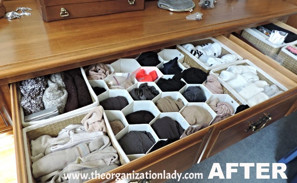 Honeycomb Sock Organizers Bed Bath And Beyond And Small Fabric Baskets Ikea Help Keep This Dresser Drawer Neat And Tidy
