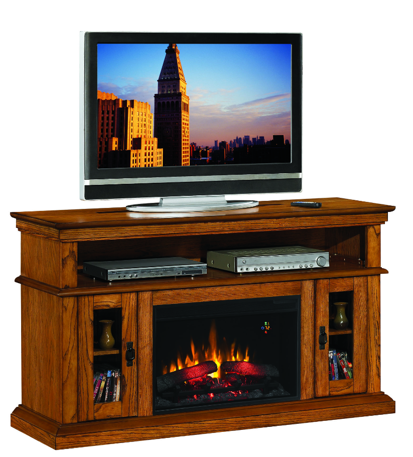 oak electric fireplace tv stand fireplace 60 39 39 brookfield premium oak entertainment. Black Bedroom Furniture Sets. Home Design Ideas